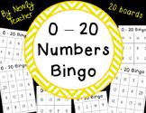 0-20 Numbers Bingo