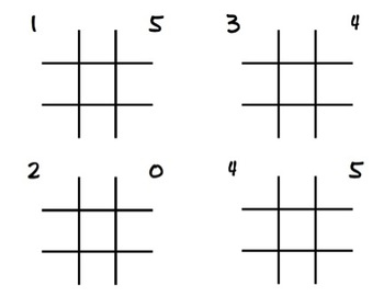 0-20 Numeral Writing - Tic Tac Toe
