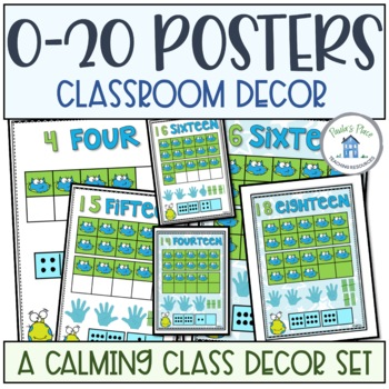 0-20 Posters Blue and Green Theme