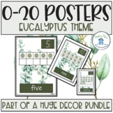 Numbers 0-20 Posters Eucalyptus Theme