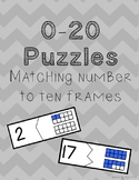 0-20 Puzzles: Number and Ten Frame