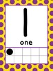0-20 Ten Frame Number Posters (Yellow/Purple polka dot)