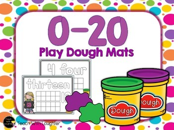 0-20 Ten Frame and Number Word Play Dough Mats