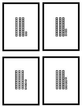 0-20 Ten Frames Matching Cards 21-50 Tens/Ones Matching Cards Subitizing