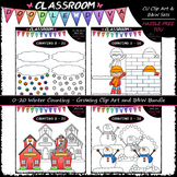 (0-20) Winter Counting - Clip Art & B&W Bundle 1 (4 Sets)