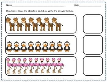 0-20 Zoo Counting Book & Worksheet Bundle