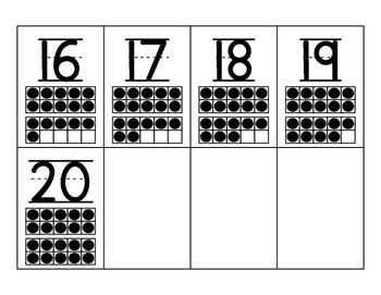 0-20 number cards