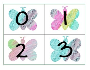 0-23 Free Butterfly Number Cards