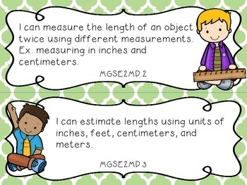 2nd Grade Georgia Standards of Excellence Math  and ELA I Can Statements
