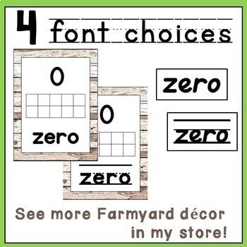 0-30 Number Farmhouse Shiplap Decor Posters