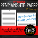 0.4 Handwriting/ Penmanship Practice, Lined Story / Poem Writing Paper