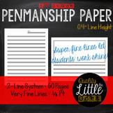 0.4 Handwriting/ Penmanship Practice, Lined Story / Poem W