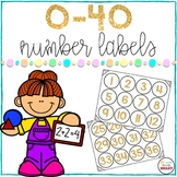 Number Labels Gold 0-40 {FREEBIE}