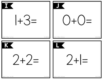 0-5 Addition Task Cards