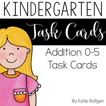 0-5 Addition Task Cards