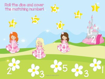 0-5 Fairies and Princesses Roll and Cover Freebie