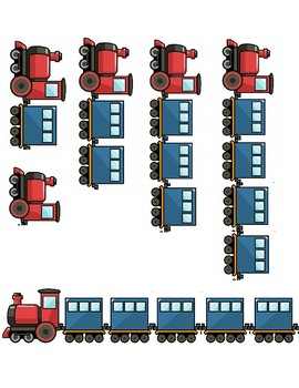 0 - 5 Montessori Train Car Counting Work by Brittany Fischer | TpT