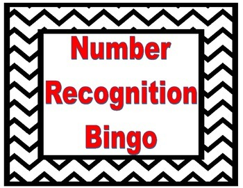 0-5 Number Recognition Bingo