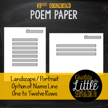 0.5 Handwriting/ Penmanship Practice, Lined Story / Poem Writing Paper