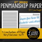 0.5 Handwriting/ Penmanship Practice, Lined Story / Poem W