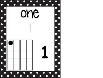 0-5 Polka Dot Number Line