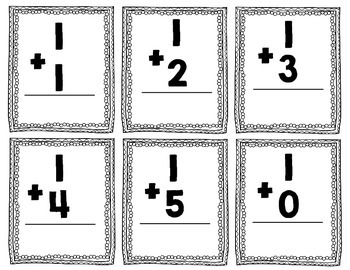 0-5 addition and subtraction fact cards