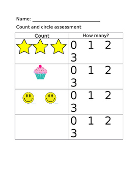 0-5 counting assessments