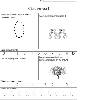 0-50 Common Core Number Worksheets