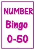 0-50 NUMBER BINGO