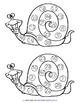 0-50 Snail Bingo Games - 5 pages