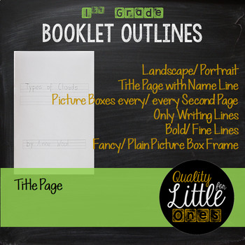 0.6 Booklet Publishing - Little Book Templates