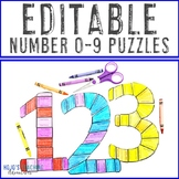 0-9 Bulletin Board Numbers EDITABLE: Make Your Own Back to