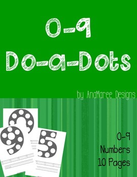 0-9 Do-a-dot Numbers