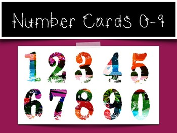 0-9 Number Cards: Graffiti Numbers