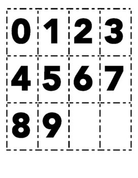 0-9 Number Cards Place Value LARGE