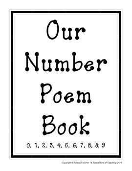 0-9 Number Poem Book