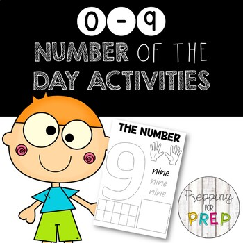 0-9 number of the day activity pages