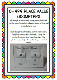 0 - 999 Place Value Odometers