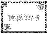 EDITABLE ~ first name TRACE sheets for K PP Prep VIC MOD CURSIVE font 10 designs