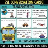 "ESL Conversation Cards ""Transportation"""
