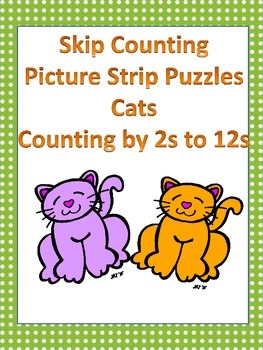 Skip Counting - Picture Strip Puzzles - Cats - Counting by