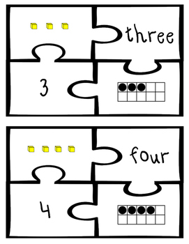 0 To 10 Number Sense Puzzles Self Checking