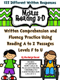 mClass Reading 3D TRC Written Comprehension Using Reading A-Z Fluency Level F-U