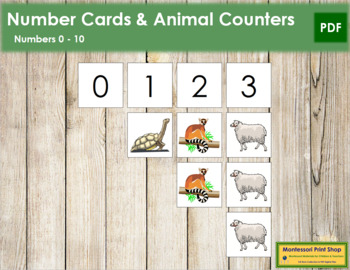 0 to 10 Number Cards and Counters - Animals
