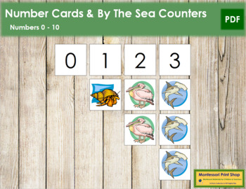 0 to 10 Number Cards and Counters - By The Sea