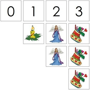 0 to 10 Number Cards and Counters - Christmas