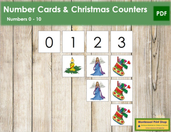Christmas Counter.0 To 10 Number Cards And Counters Christmas