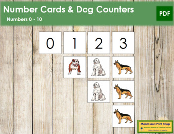 0 to 10 Number Cards and Counters - Dogs