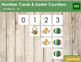 0 to 10 Number Cards and Counters - Easter