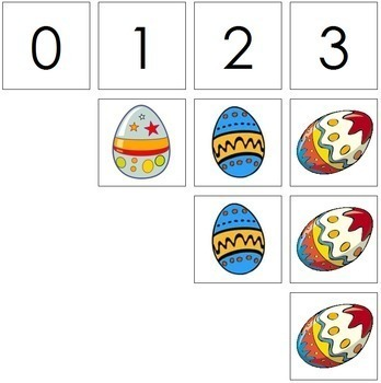 0 to 10 Number Cards and Counters - Eggs